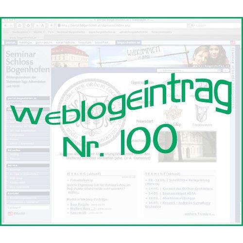 Bild 1 zum Weblog 100